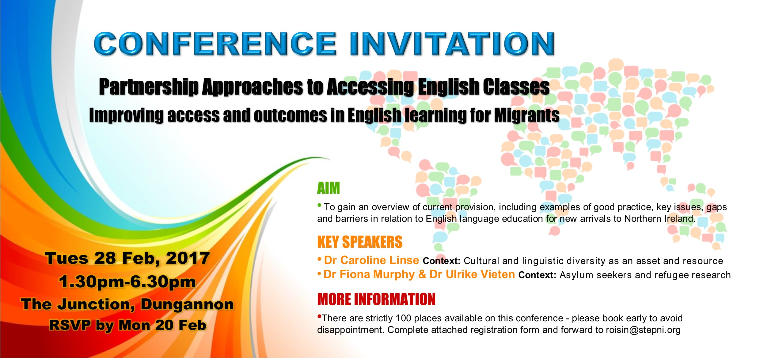 Conference invite partnership approaches to accessing english more information email roisinstepni to request an application form rsvp by mon 20th feb stopboris Image collections